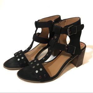 Franco Sarto Haven studded chunky heel sandals